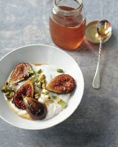 Honey-Caramelized Figs with Yogurt - From Fig Recipes @ wholeliving.com