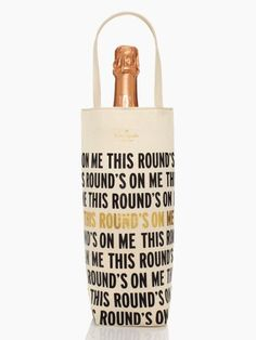 Kate Spade – THIS ROUND IS ON ME WINE TOTE