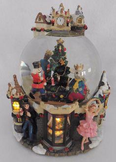 Christmas Snow Globe Lighted Musical Animated Nutcracker Ballet   eBay