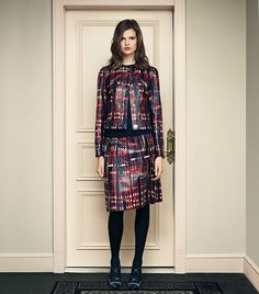 Statement Suit: Tartan Leather | Womens Lookbook: Shop By Look | ToryBurch.com