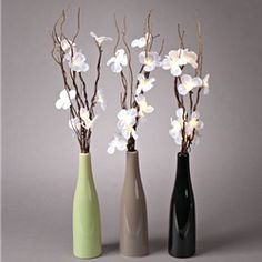 Lighted Dogwood Flower Arrangement, Willow Branches, Battery Operated