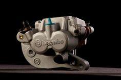 Aluminium two-piston floating caliper, 1992.
