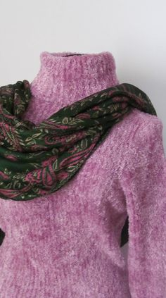 Lavender Fuzzy Sweater INC International by ReVintageBoutique