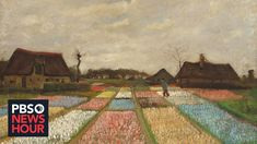 """An exhibit at South Carolina's Columbia Museum of Art shows Vincent van Gogh in a new light. """"Van Gogh and His Inspirations"""" presents the younger, wayward ar. Vincent Van Gogh, Oil On Canvas, Canvas Prints, Post Impressionism, Impressionist, Sunset Landscape, Historical Art, National Gallery Of Art, Wassily Kandinsky"""