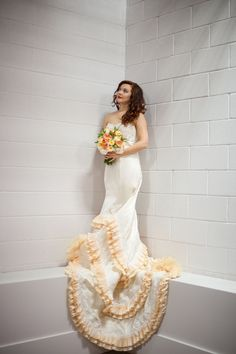 Ruffle Tiered Wedding Dress - Lazaro Inspired Gown