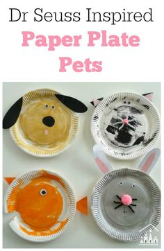 We were so excited to learn about the newly discovered classic Dr Seuss story, What Pet Should I Get? We just had to come up with a fun preschool cra… - Dr. Seuss, Preschool Arts And Crafts, Preschool Activities, Preschool Printables, Paper Plate Crafts, Paper Plates, Dr Seuss Stories, Crafts To Do, Crafts For Kids