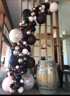 Burgundy, navy and rose gold balloon garland Stylish Soirees Perth - Balloon Decorations 🎈 Wedding Balloon Decorations, Wedding Balloons, Birthday Decorations, 21st Decorations, Party Planning, Wedding Planning, Wedding Ideas, Wedding Themes, Diy Wedding