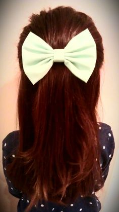 mint green adult teen or child hair bow by sillydolls on Etsy, $5.00
