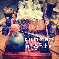 Smores/Bonfire party idea for the grownups!