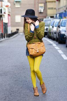 Bright Yellow and Denim. - MaryPolka.com