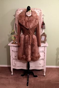 70s Shearling Coat, Vintage Penny Lane Coat, 1970s Coat, S/SM, Genuine Fur Coat, Princess Coat, Brown Soft Suede Coat w Thick Beautiful Fur by SownThreadsClothing on Etsy https://www.etsy.com/listing/277110352/70s-shearling-coat-vintage-penny-lane