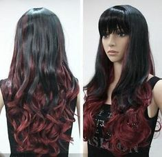 red wigs for black women | J044-2013-long-black-dark-red-cosplay-womens-hair-WIG