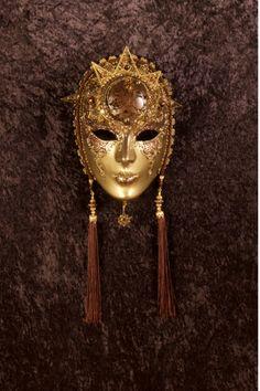 Helios maschera veneziana, maschera del carnevale veneziano, originale in cartapesta
