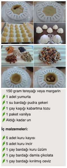 Atom kurabiye - Just Pin Cookie Recipes, Dessert Recipes, Delicious Desserts, Yummy Food, Mini Cheesecakes, Arabic Food, Turkish Recipes, Food Design, Sweet Recipes