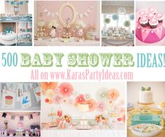 500 BABY SHOWER IDEAS via www.KarasPartyIdeas.com! Lots of decorating ideas for tons of different parties