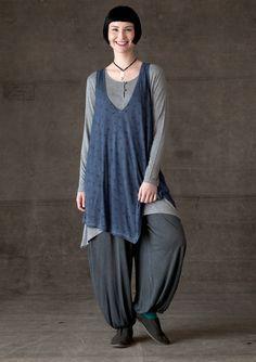 "langenlook hair | Durum"" viscose jersey tunic – Blouses & waistcoats – GUDRUN ..."