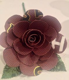 Leather Football Rose by Fab5EventsGifts on Etsy, $23.00