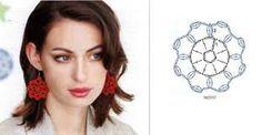 Αποτέλεσμα εικόνας για orecchini uncinetto