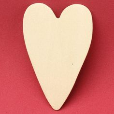 Unfinished Wood Folk Heart Cutout - Wooden Hearts - Unfinished Wood - Craft Supplies
