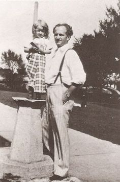 Larry with his daughter, Phyllis. Larry is one of the Three Stooges.