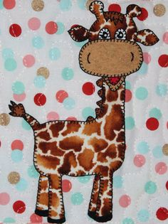 Giraffe PDF applique pattern This baby giraffe is so gentle! You could use this 7 by 7 square block as part of a baby nursery quilt, wall decoration, mug rug, pillow, busy book for a toddler or a cute tote bag. Just use your imagination! The 3-page printable African animal quilt block pattern includes ready-to-use individual pieces and a full-sized applique layout guide, along with instructions for creating your own cute baby giraffe. Just print and youre ready to start the fun. The…