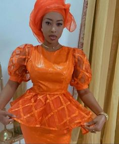 African Fashion Ankara, Latest African Fashion Dresses, African Dresses For Women, African Print Fashion, Africa Fashion, African Attire, African Lace Styles, African Tops, Yellow Plus Size Dresses