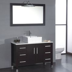 "Cambridge Plumbing Magnolia 47"" Single Bathroom Vanity Set"
