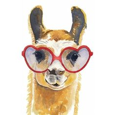 Llama Watercolour PRINT, Watercolor Painting, Llama Illustration,... ❤ liked on Polyvore featuring home, home decor, wall art, watercolour painting, water colour painting, water color illustration, water color painting and watercolor illustration