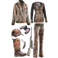 """Hunting in Under Armour"" by hotcowboyfan. Very camo Cute Country Outfits, Country Girl Style, My Style, Country Wear, Country Fashion, Country Life, Hunting Camo, Hunting Girls, Hunting Stuff"