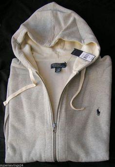 New 4XL TALL 4XLT POLO RALPH LAUREN Mens Fleece Hoodie full zip sweatshirt 4XT #PoloRalphLauren #Hoodie