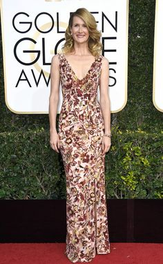 Laura Dern at the 74th Annual Golden Globe Awards at The Beverly Hilton Hotel on January 8, 2017 in Beverly Hills, California.