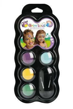 Grim'tout: Maquillage 4 pastilles - couleur de fée - Castello | Jeux et Jouets