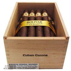 Gotham Cigars - Bolivar Cofradia Cuban Corona, $91.50 (https://www.gothamcigars.com/bolivar-cofradia-cuban-corona/)