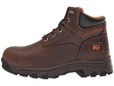 Timberland PRO Workstead 6 Composite Safety Toe Men's Work Lace-up Boots Brown Full-Grain Leather Timberland Waterproof Boots, Timberland Pro, Waterproof Hiking Boots, Yellow Boots, Brown Boots, Composite Toe Boots, Shoe Company, Motorcycle Boots, Moda Masculina