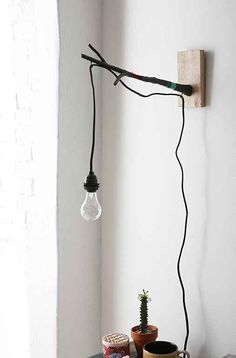 magical thinking into the woods mounted pendant bedside lamp • uo