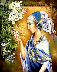 """Artesana y la Orquidia"" by Orestes Bouzon Artwork."