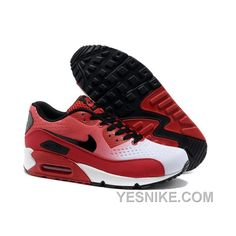 official photos 1040b aa3aa Nike Air Max 90 Premium Blanc Noir Rouge Femme Pas Cher Air Max 90 Premium,