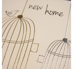 our lovely platinum new home card on print & pattern: CARDS - belly button designs