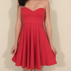 Red Strapless Urban Outfitters Dress Valentines! Red Strapless Urban Outfitters Dress -- Perfect for  Valentines Day! ❤️ Size Medium but stretchy so fits small/medium Urban Outfitters Dresses Mini