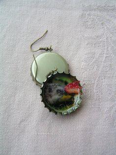 Hedgehog earrings Bottle Cap Earrings, Drop Earrings, Ideas Para, Hedgehog, Jewelry, Manualidades, Jewlery, Bijoux, Schmuck