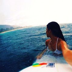 Surfing in the rain! My favorite!