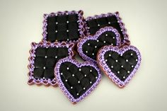 Black Quilted Cookies   http://www.flickr.com/photos/mint_lemonade/with/10818125285/