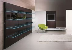Mueble modular de pared montaje pared de vidrio LIGHTERIE by T.D. Tonelli Design | diseño Donato D'Urbino