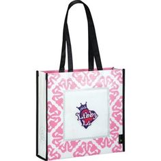Pink Laminated Non-Woven Retro Promo Tote Bag - As low as $1.82 each with imprint!
