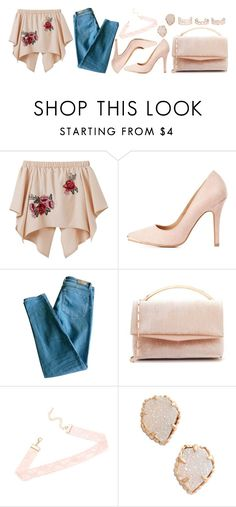 """1239."" by asoul4 ❤ liked on Polyvore featuring Charlotte Russe, Sandro, Eddie Borgo, Kendra Scott and New Look"