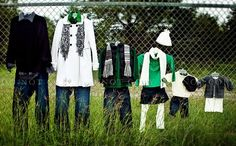 Black, White & Green