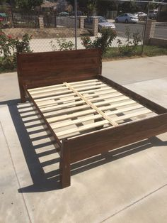 Queen Bed Frame by SawdustWoodCrafting on Etsy & Walnut Storage Bed - Platform Bed No. 2 - Modern Wood Bed Frame - 6 ...