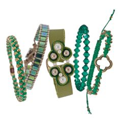 Emerald Beauty Bracelets | Fusion Beads Inspiration Gallery