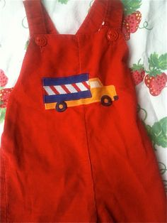 Healthtex Truck Overalls 1824 Months by lishyloo on Etsy, $12.00