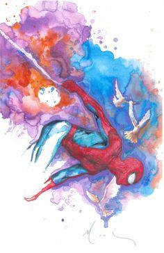 #Spiderman #Fan #Art. (Spider-Man) By: David Mack. (THE * 5 * STÅR * ÅWARD * OF: * AW YEAH, IT'S MAJOR ÅWESOMENESS!!!™)[THANK Ü 4 PINNING!!!<·><]<©>ÅÅÅ+(OB4E)